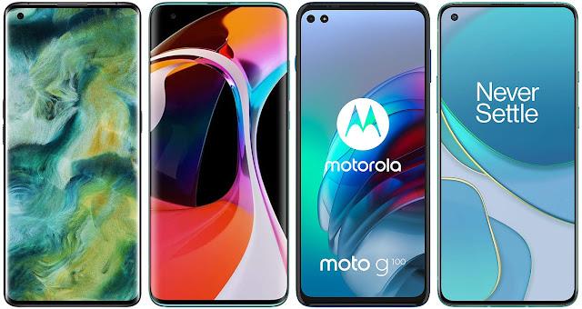 Oppo Find X2 vs Xiaomi Mi 10 vs Motorola Moto G100 vs OnePlus 8T