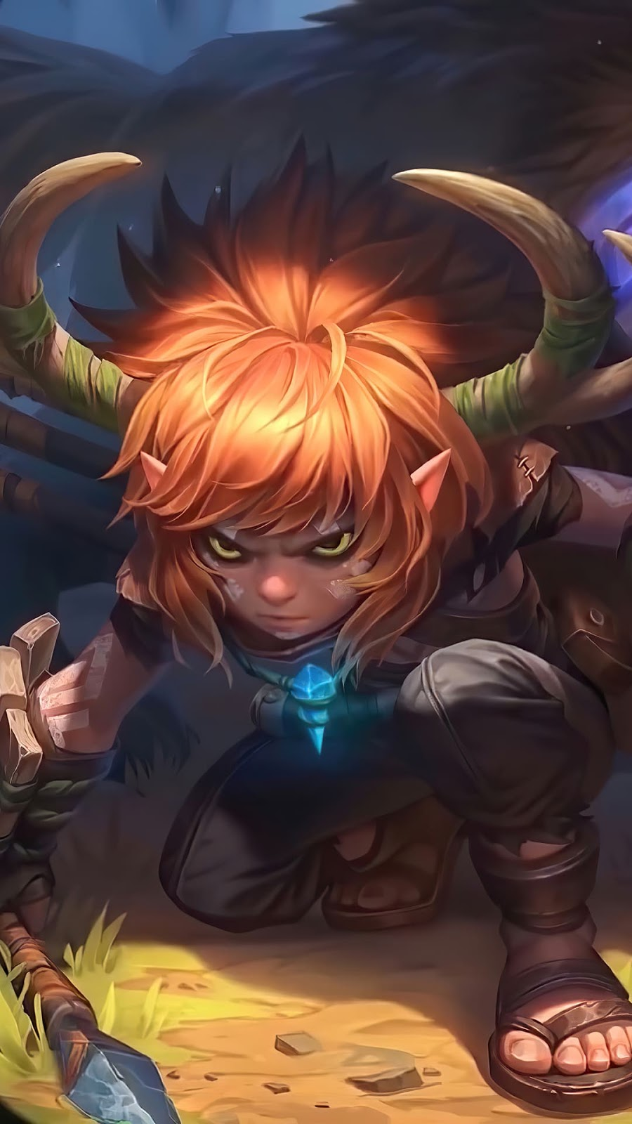 Wallpaper Popol and Kupa Hunting Pals Skin Mobile Legends HD for Android and iOS