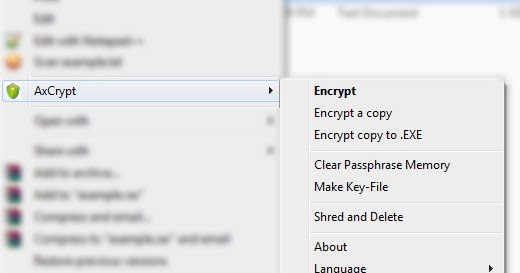 How to Encrypt individual files and folders with AxCrypt for