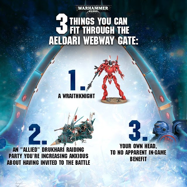 Things can fit through your Aeldari Webway Gate/ 40k Slowdown