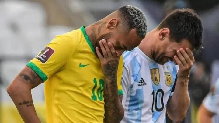 Brazil vs Argentina is officially suspended due to covid 19 rules.