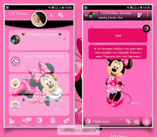 Minnie Pink Theme For YOWhatsApp & Fouad WhatsApp By Thania