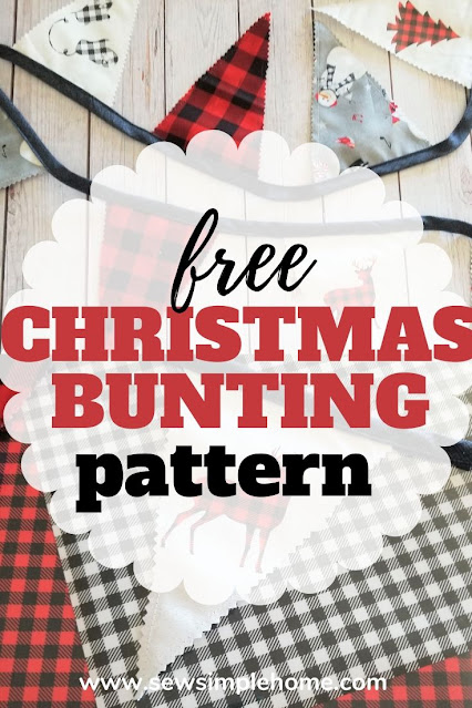 Learn how to sew fabric bunting and add fun holiday cut file accents.