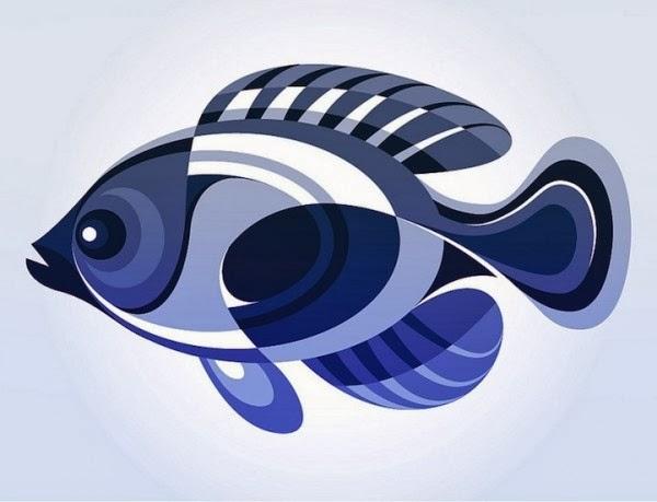Geometría y diseño gráfico pez