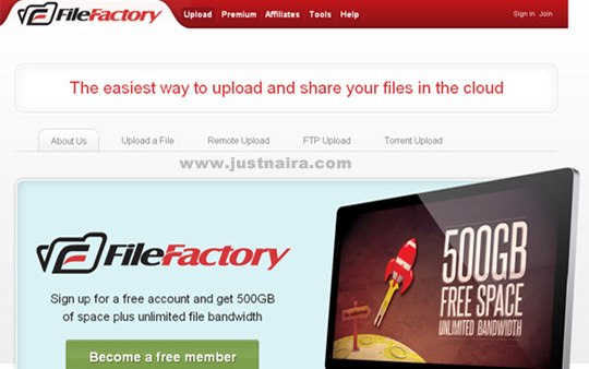 FileFactory Hosting Services