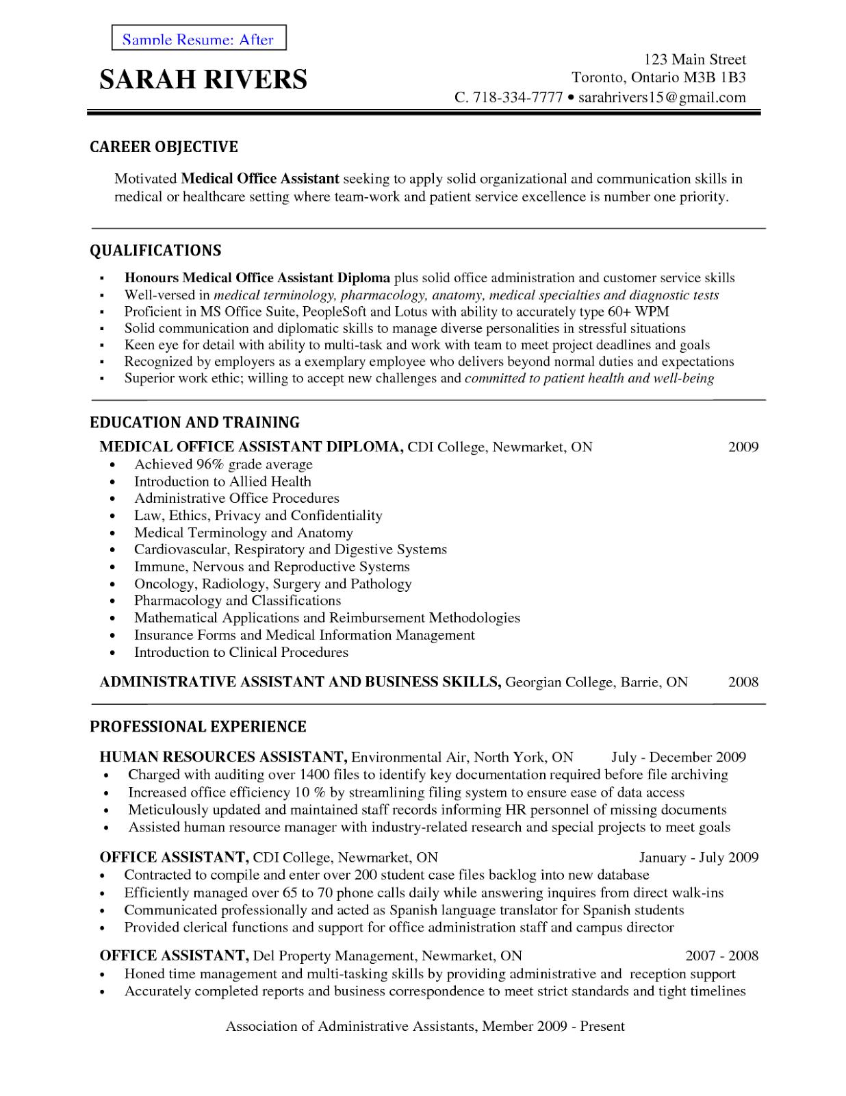 resume samples for tim hortons