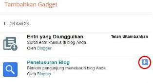 Menambahkan Widget ke Blog