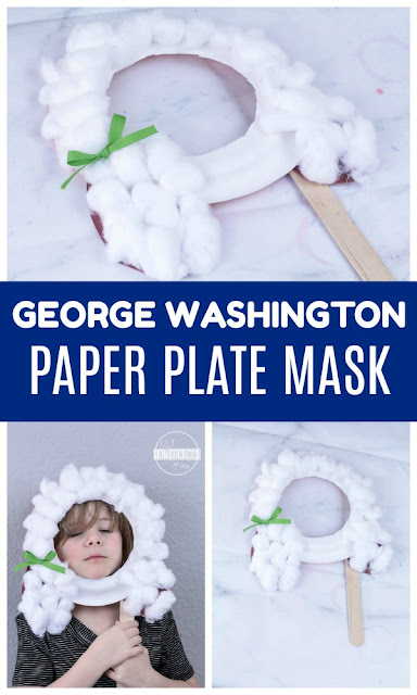 George Washington Birthday Craft - super fun and easy to make craft for kids for presidents day, 4th of july, independence day, revolutionary war, presidents, or many other hands on lessons for toddler, preschool, prek, kindergarten, first grade, and 2nd grade kids