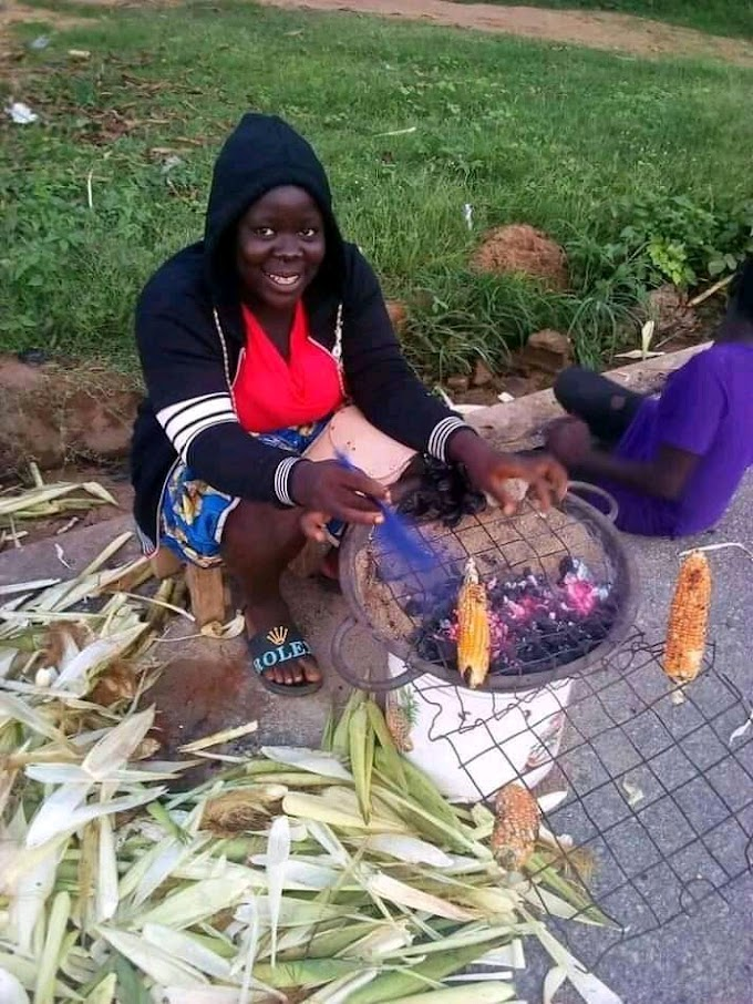 """I'm proud of my work"" - Lady roasting maize flaunts pics on social media"