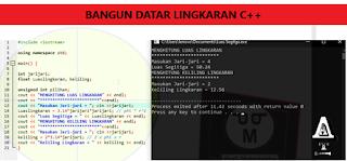 Program Menghitung Luas Dan Keliling Lingkaran C++