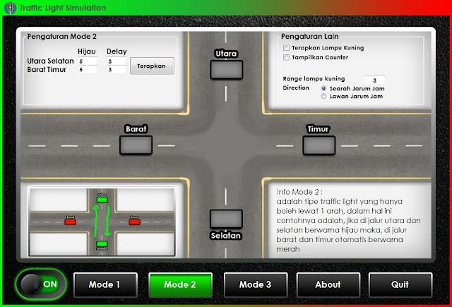 Contoh Program Simulasi Traffic Light Menggunakan Bahasa C# (C Sharp)