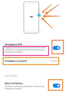 Emergency SOS call setting