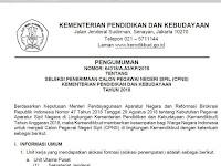 Resmi !! Seleksi Penerimaan CPNS Kemendikbud Tahun 2018 Dibuka, Silahkan Cek