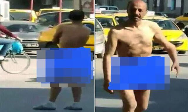 العاصمة: رجل يخرج عاريا في الشارع إحتجاجا على وضع البلاد ويوجّه رسالة للحكومة