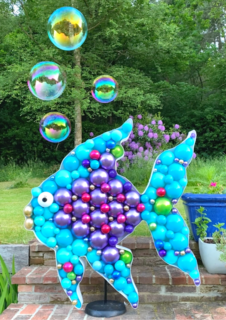 The Rainbow Fish Balloon Decoration by Sue Bowler