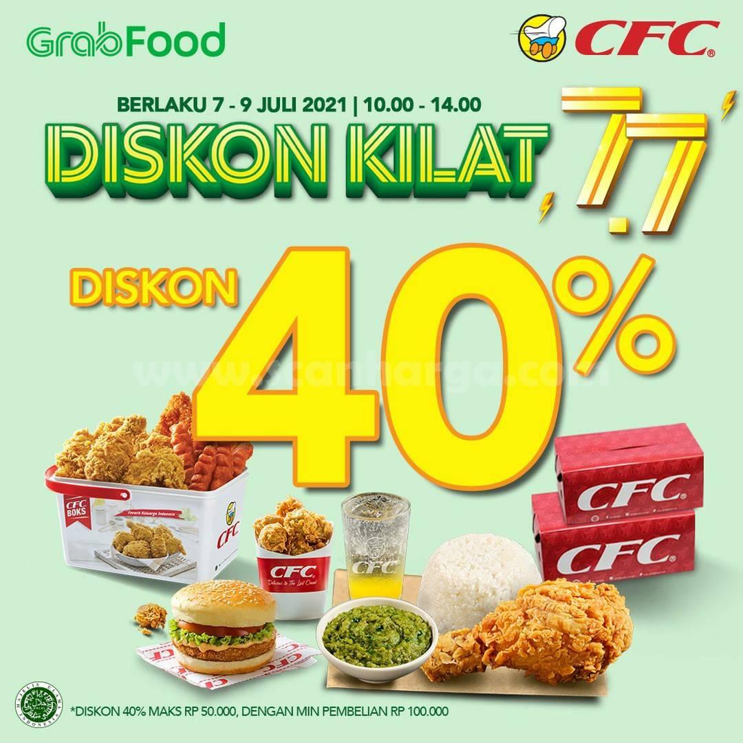 CFC Promo FLASH SALE DISKON hingga 40% via GRABFOOD