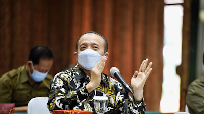 Pencegahan Covid-19, Sekjend KLHK Bambang Hendroyono Pimpin Rapat Koordinasi