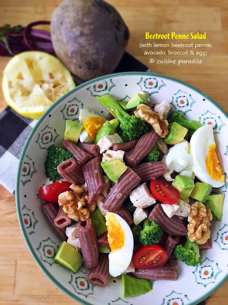 Lemon Beetroot Penne Salad