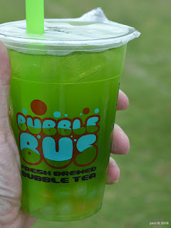 fork on the road: green apple bubble tea