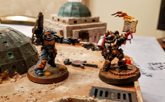 Warhammer 40k battle report - Eternal War -  Crusade - 1000 points - Space Wolves vs The Purge