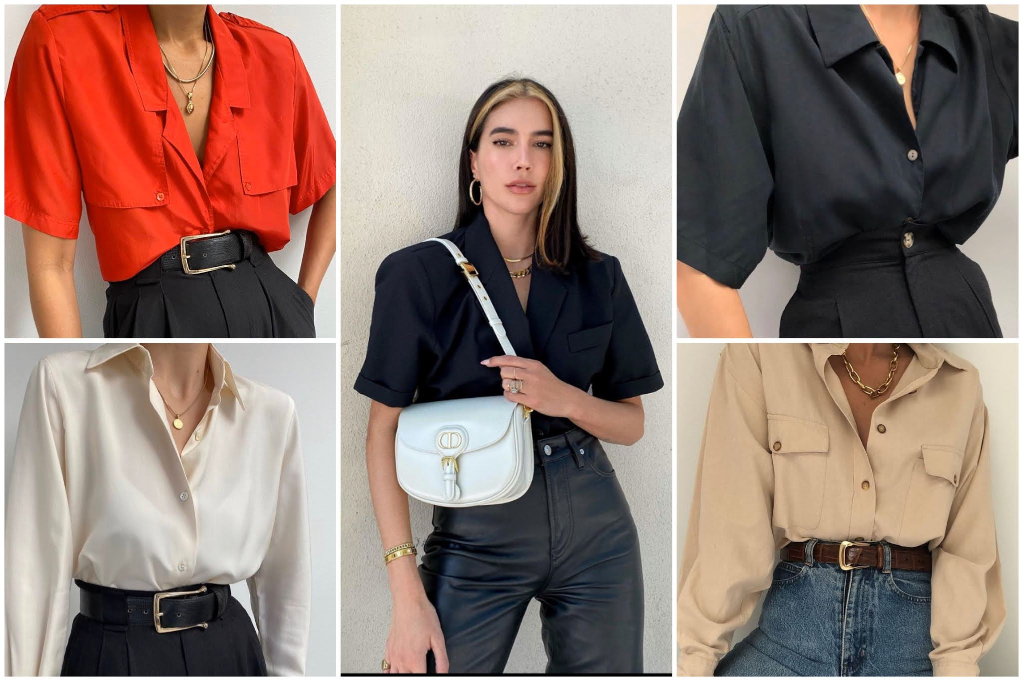 Cómo las mujeres pueden combinar una camisa de chico