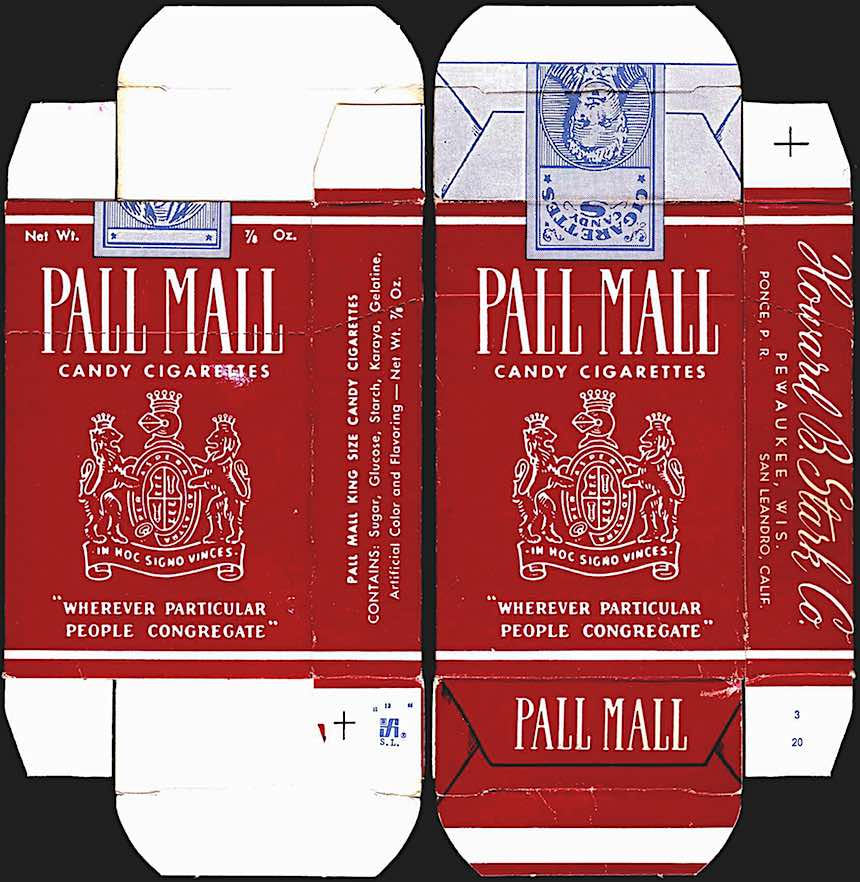 1960s candy cigarettes, Pall Mall