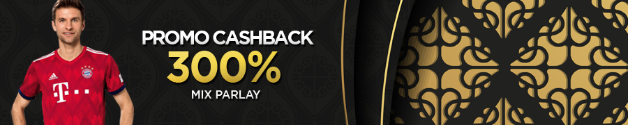 PROMO CASHBACK  300% MIX PARLAY