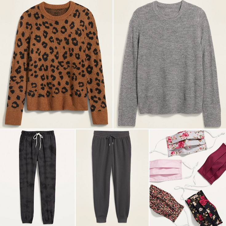 bbloggers, bblogger, bbloggerca, bbloggersca, canadian beauty bloggers, beauty blog, lifestyle blogger, birthday haul, collective haul, summer 2021 haul, old navy, super cash, leopard print sweater, clearance, joggers, face masks