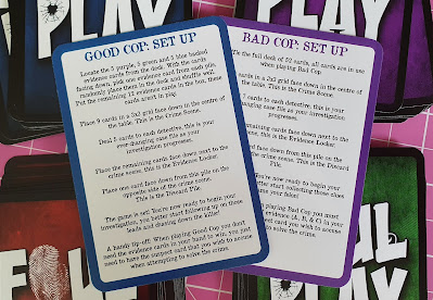 Foul Play Murder Mystery Card Game good cop bad cop set up cards