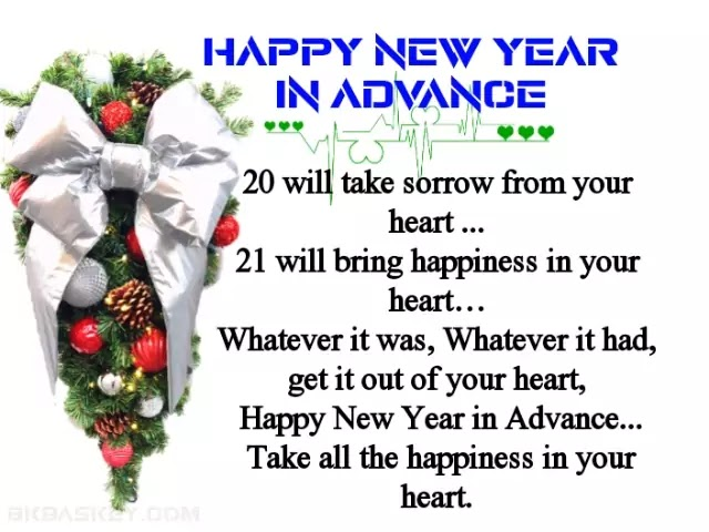 Happy New Year 2020 Status | New Year Wish Greeting in Advance