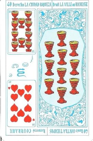Tarot Rey Thot: Nº 40 - La ciudad, riqueza - Contratiempos