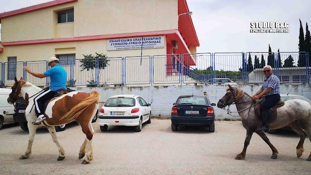 Ναύπλιο: Στην κάλπη με τα άλογα (βίντεο)