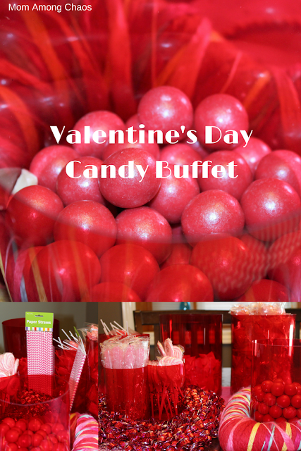 Valentine's Day Candy Buffet, candy buffet, kids, Valentine's Day