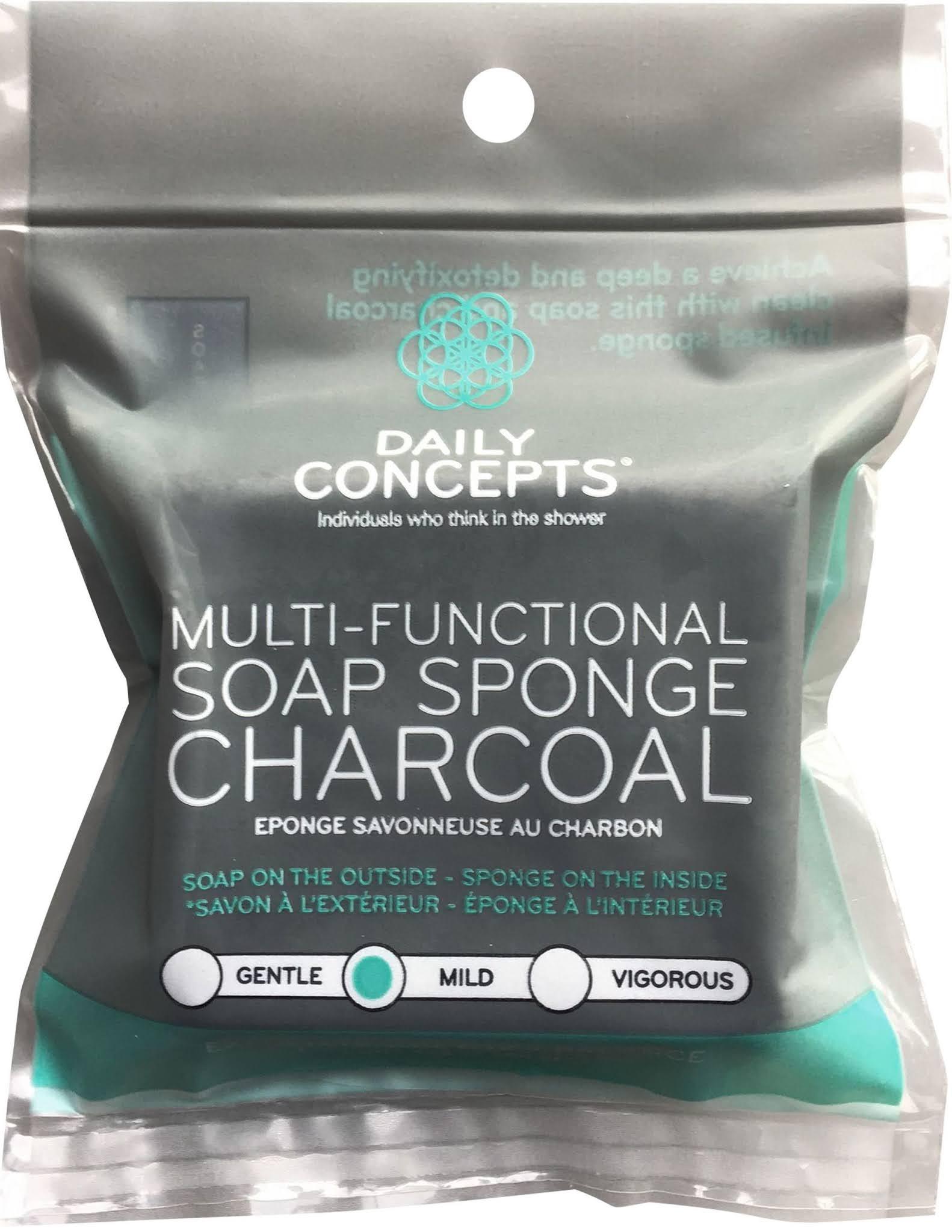 l'éponge savonneuse au charbon de la marque Daily Concepts