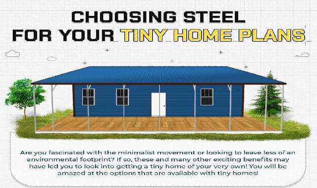 Choosing Steel For Your Tiny Home Plans #infographic