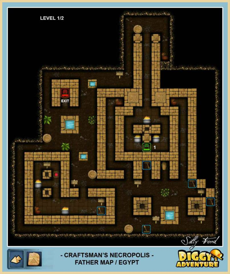 Diggy's Adventure Walkthrough: Egypt Father Quest / Craftsman Necropolis