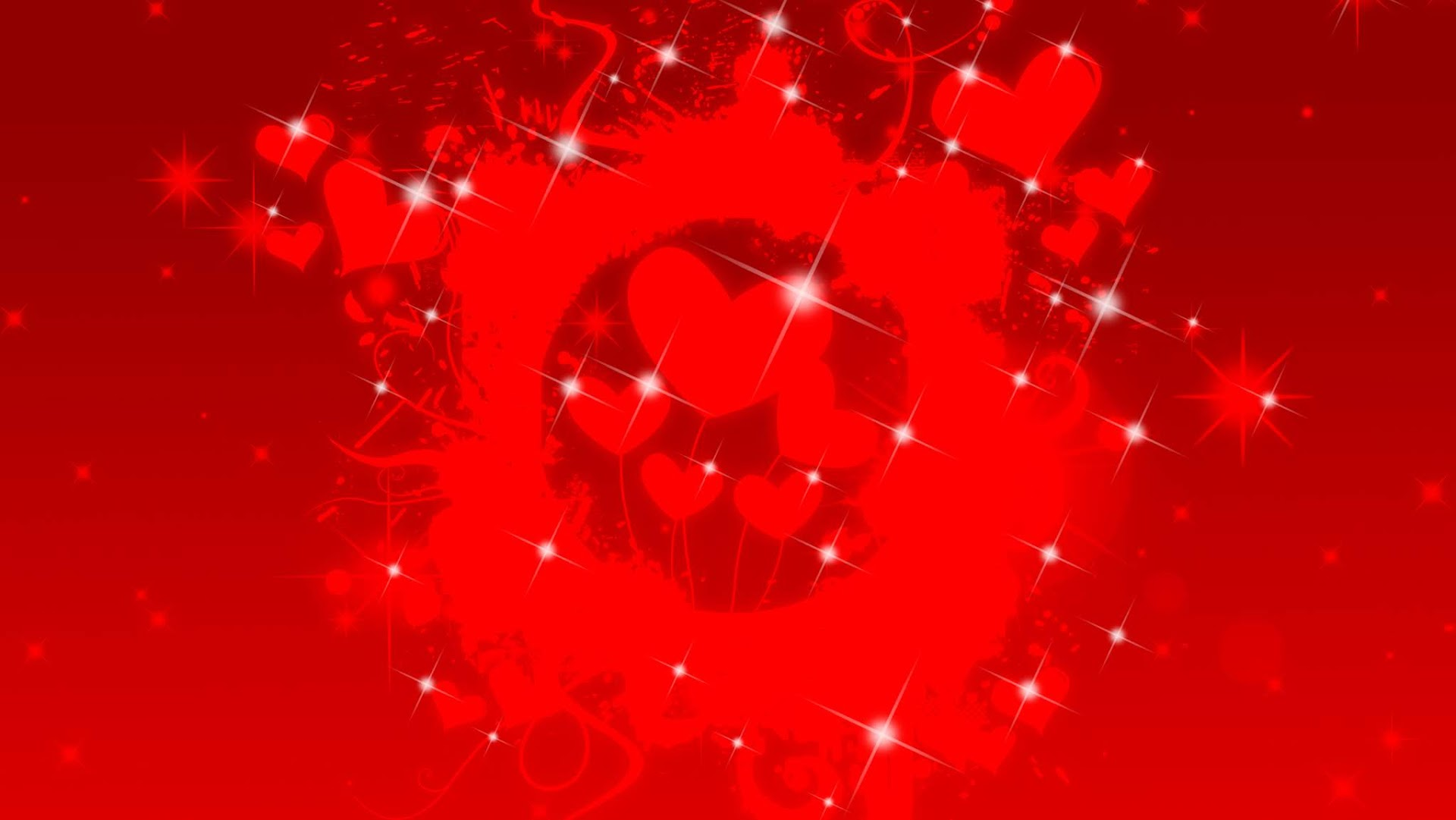 Shiny Red Hearts Presentation Background