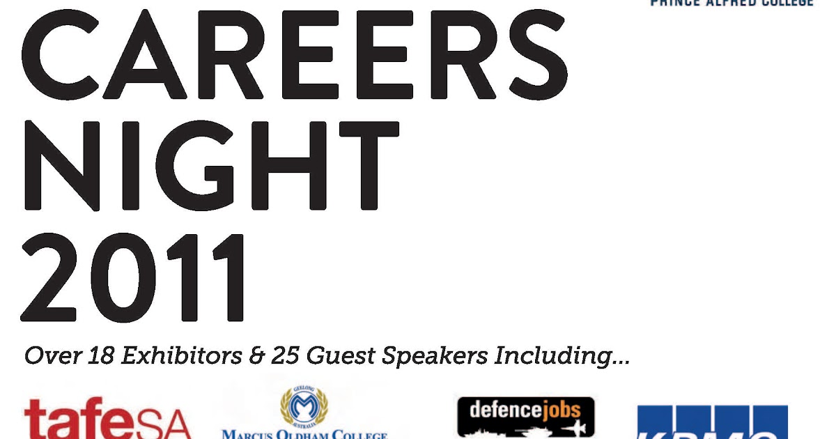 Prince Alfred College Year 12s: Careers Expo: Thursday