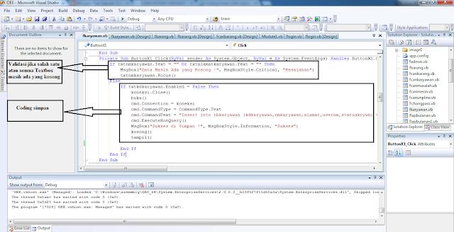 Coding Insert, Update, Delete di VB.Net