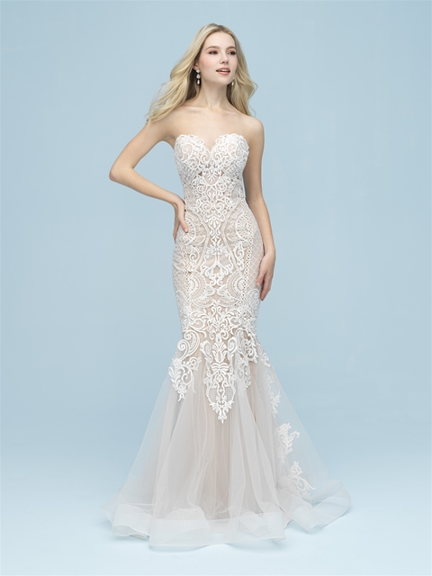 Seducing Sheer Through Fit Flare Allure Bridals At Kleinfeld 2019 Shoes Wedding,Ball Gown Wedding Dresses Cinderella Style