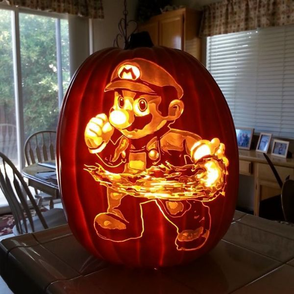 Cool Pumpkin carving - Super Mario