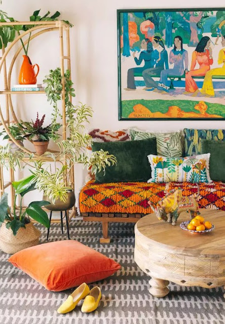 Perfect bohemian living room