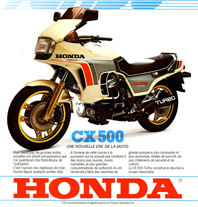 1982 Honda CX500 Turbo - French Print Advert