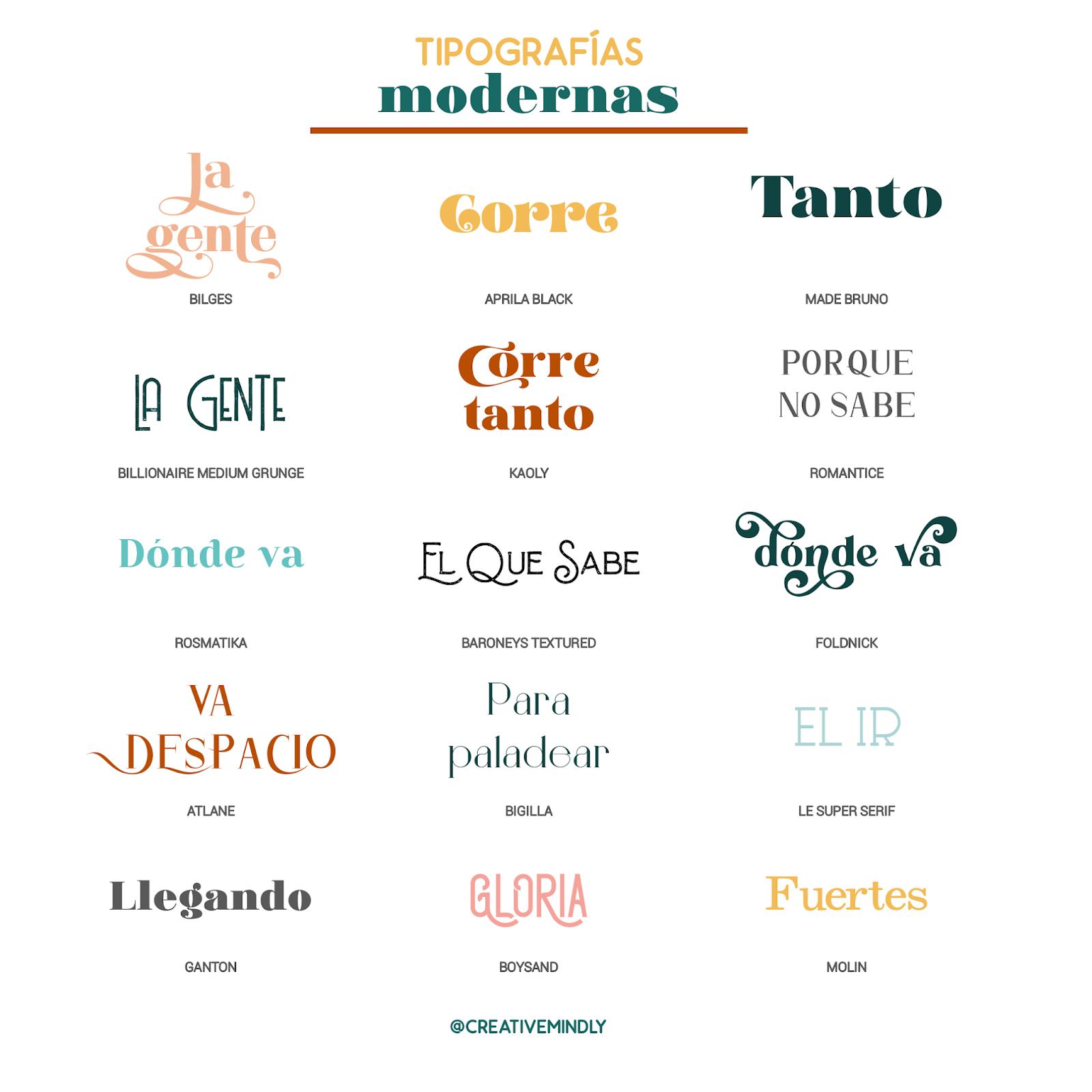 tipografias bonitas modernas