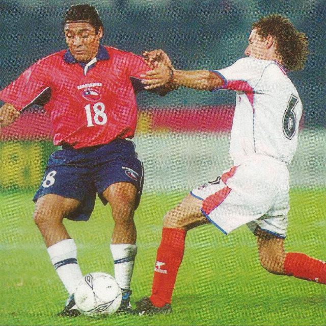 Chile y Costa Rica en partido amistoso, 30 de abril de 2003