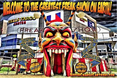obama, obama jokes, political, humor, cartoon, conservative, hope n' change, hope and change, stilton jarlsberg, democrat, convention, hillary, bernie, freak show