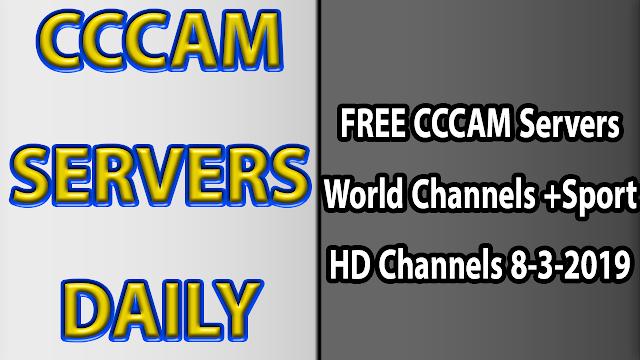 FREE CCCAM Servers World Channels +Sport HD Channels 8-3-2019