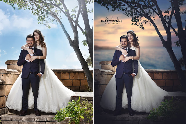 Wedding photo Edit Manipulation/Make a sunset photo edit in photoshop