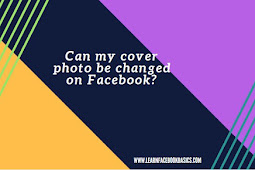 Can Facebook cover photo be changed?