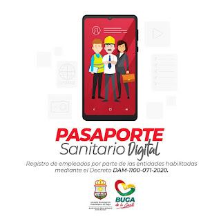 Descargar Pasaporte Sanitario Digital Buga 2020